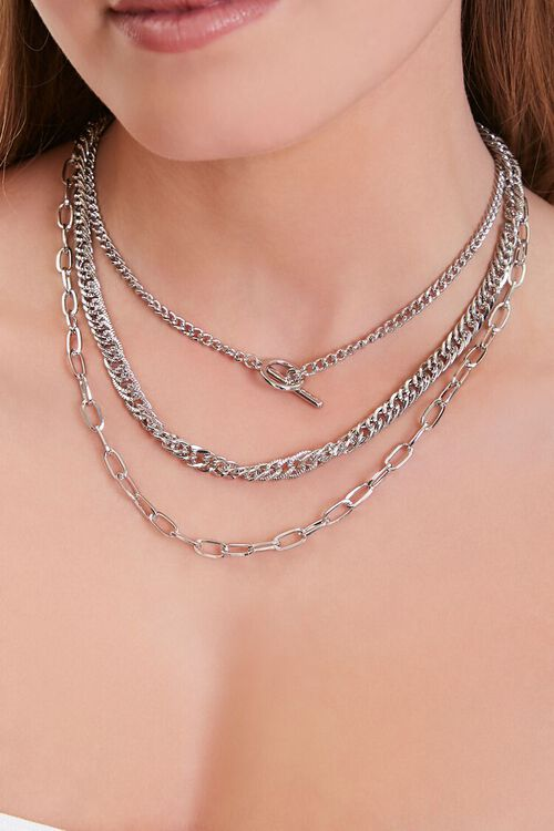 Toggle Bar Chain Layered Necklace, image 1