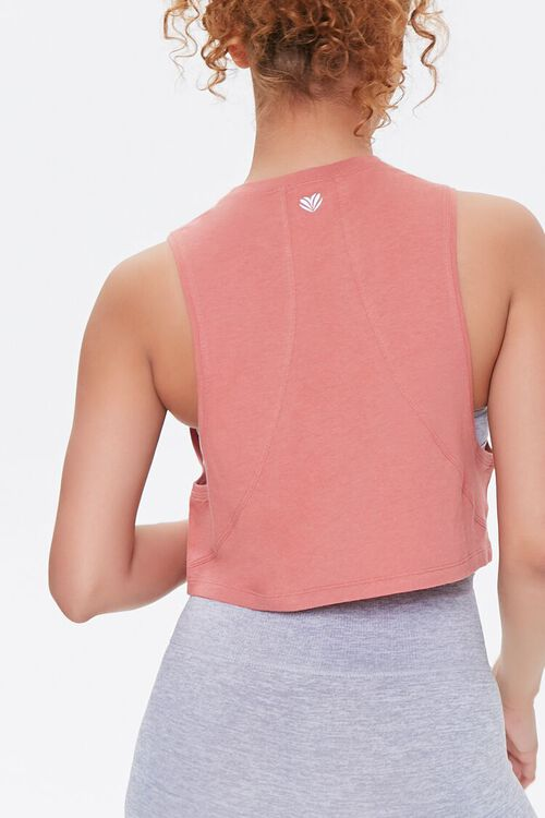 FADED ROSE Active Cropped Muscle Tee, image 3