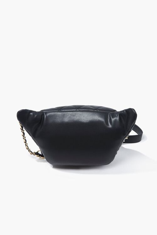 Faux Leather Quilted Fanny Pack, image 2