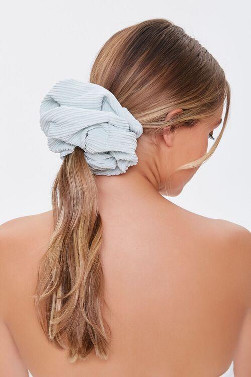 BLUE Oversized Ribbed Scrunchie, image 1
