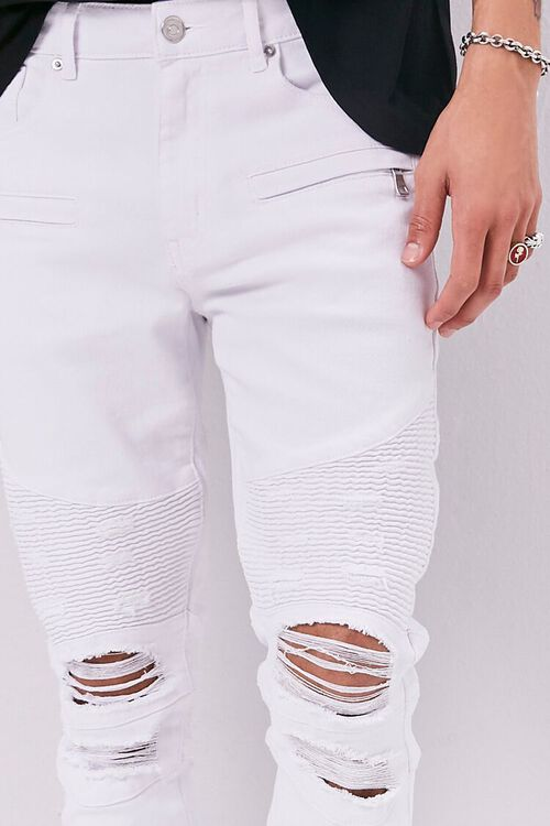Distressed Moto Skinny Jeans, image 5