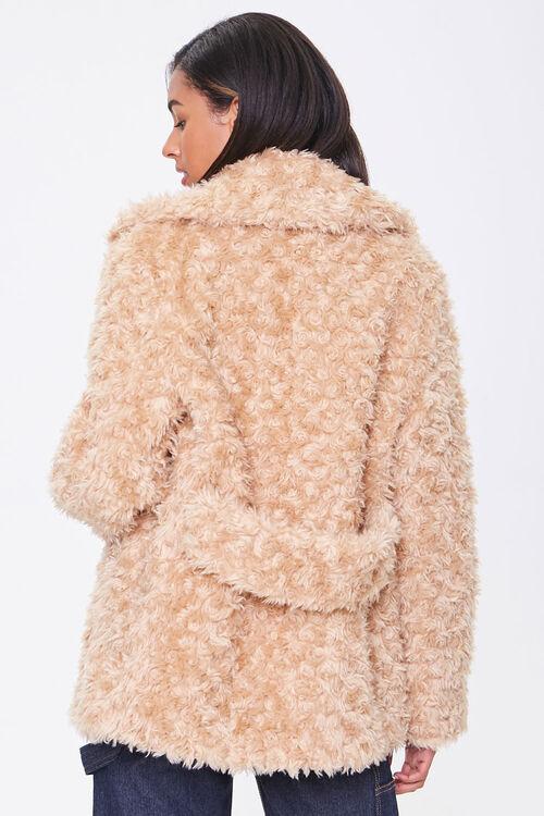 Boucle Faux Fur Buttoned Coat, image 3
