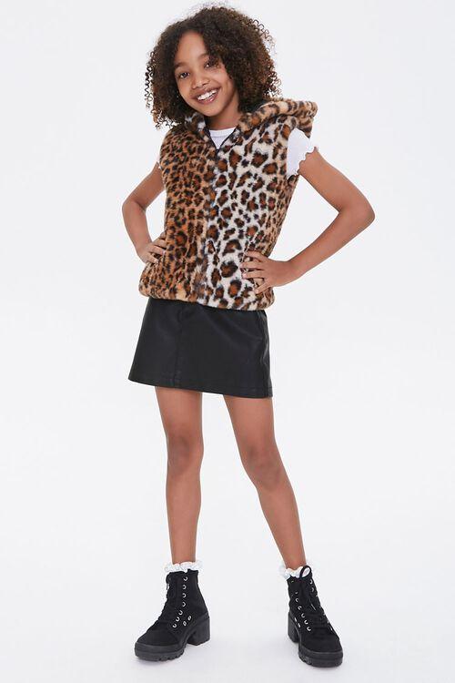 Girls Hooded Leopard Vest (Kids), image 4