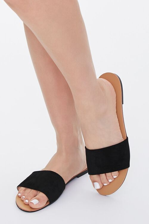 Faux Leather Open-Toe Sandals, image 1