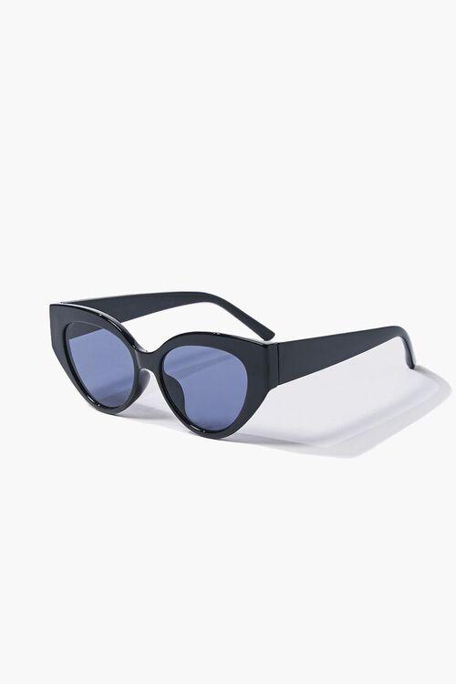 BLACK/BLACK Tinted Cat-Eye Sunglasses, image 4