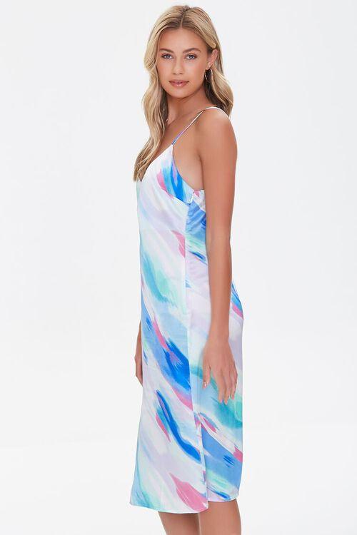 Satin Abstract Wash Slip Dress, image 2