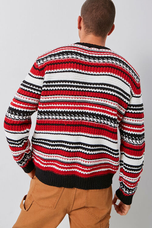 Striped Knit Crew Neck Sweater, image 4