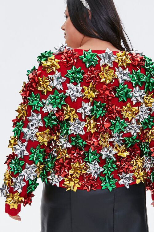 Plus Size Gift Topper Cardigan Sweater, image 4