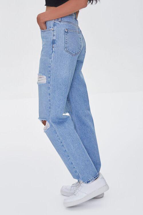 LIGHT DENIM Premium Distressed 90s-Fit Jeans, image 3