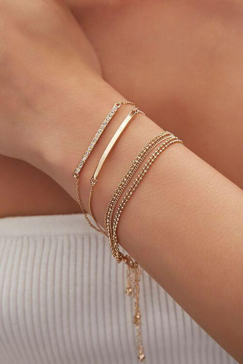 Bar Pendant Beaded Bracelet Set, image 1