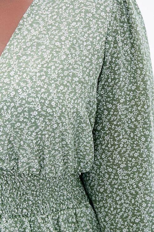 Plus Size Floral Peasant Maxi Dress, image 5