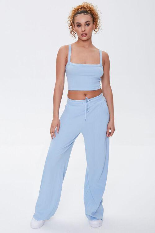 Wide-Leg Drawstring Sweatpants, image 1