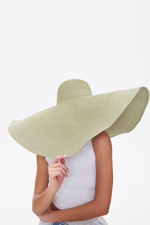 Oversized Floppy Straw Hat, image 2
