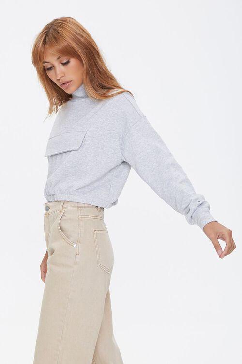 Heathered Turtleneck Pullover, image 2