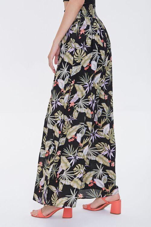 Tropical Leaf Print Palazzo Pants, image 3