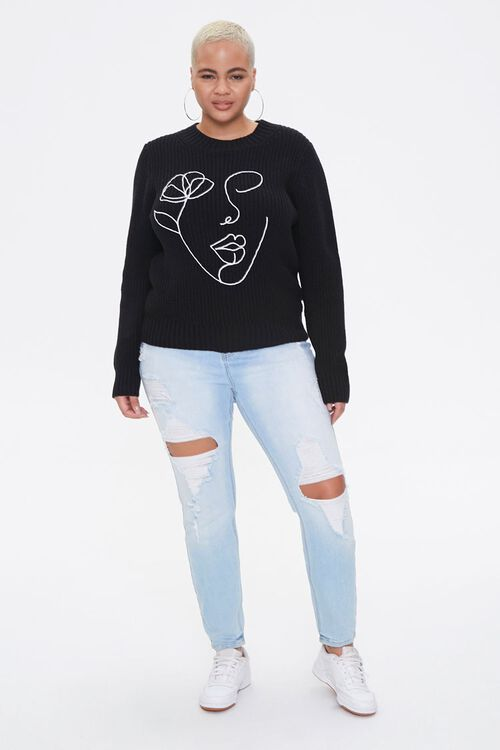 Plus Size Line Art Sweater, image 4