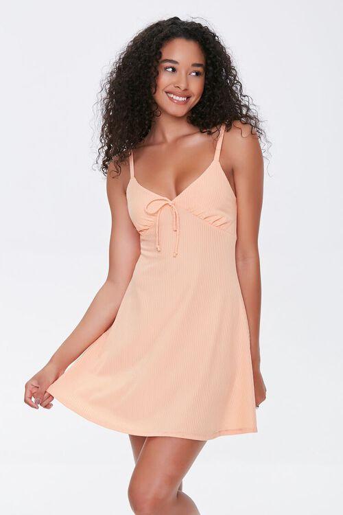 Ribbed Knit Mini Dress, image 1