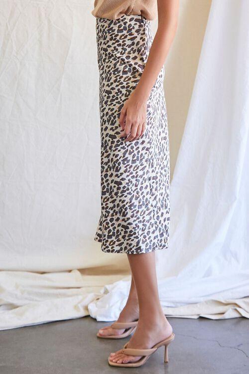 TAN/BLACK Leopard Print Midi Skirt, image 3
