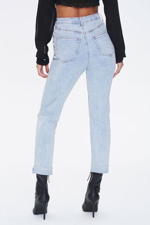 LIGHT DENIM Slim Straight High-Rise Jeans, image 4