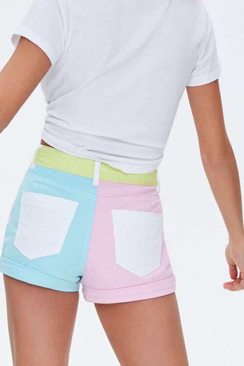 Colorblock Denim Shorts, image 3
