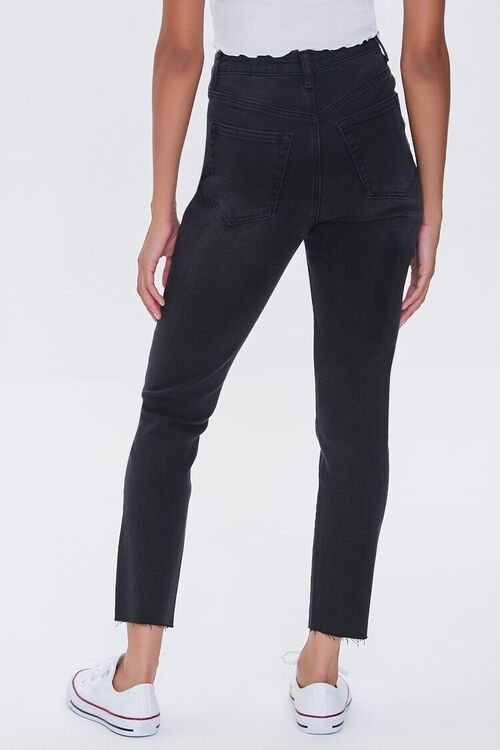 WASHED BLACK Essentials High-Rise Frayed Jeans, image 4