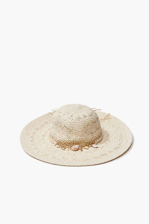 Seashell Charm Straw Hat, image 1
