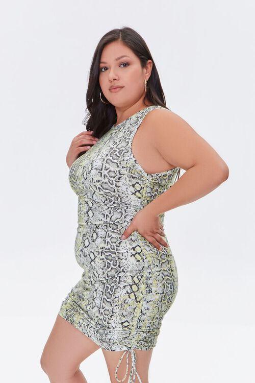 Plus Size Snakeskin Print Bodycon Dress, image 2