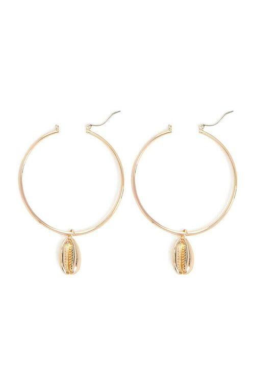 Cowrie Hoop Earrings, image 2
