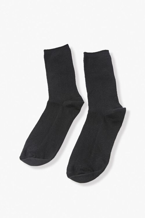 Ribbed Crew Socks, image 2