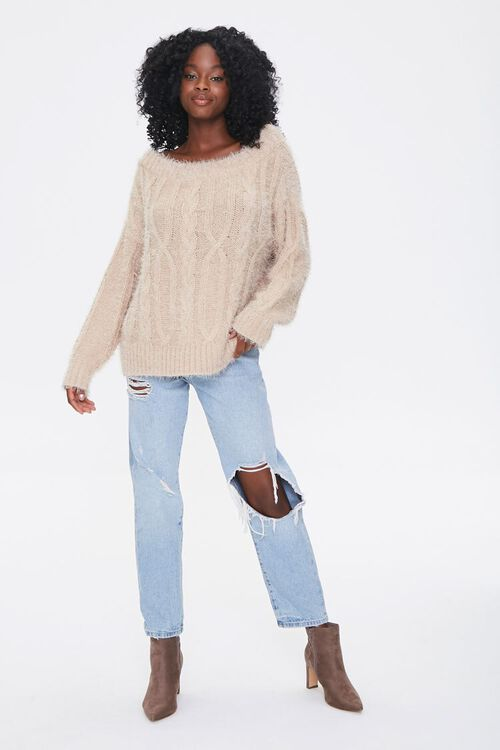 Fuzzy Boat Neck Sweater, image 4