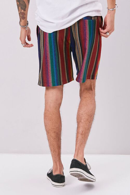 Striped Print Drawstring Shorts, image 4
