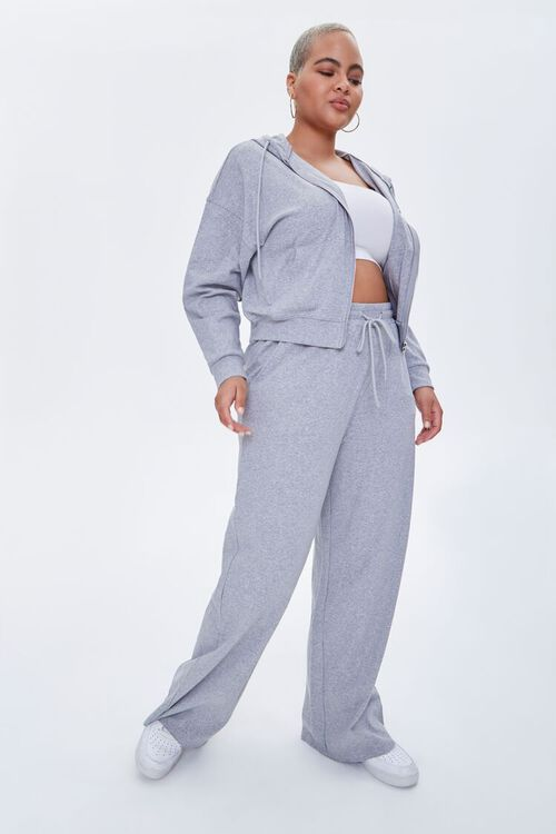 Plus Size Straight-Leg Sweatpants, image 1