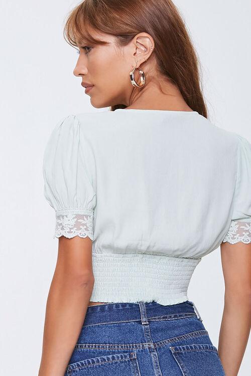 Lace-Trim Crop Top, image 3