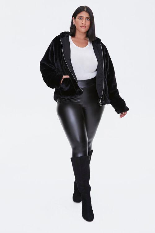 Plus Size Plush Hooded Jacket, image 4