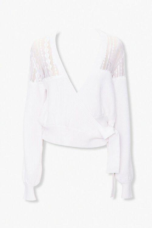 Crochet-Lace Wrap Sweater, image 1