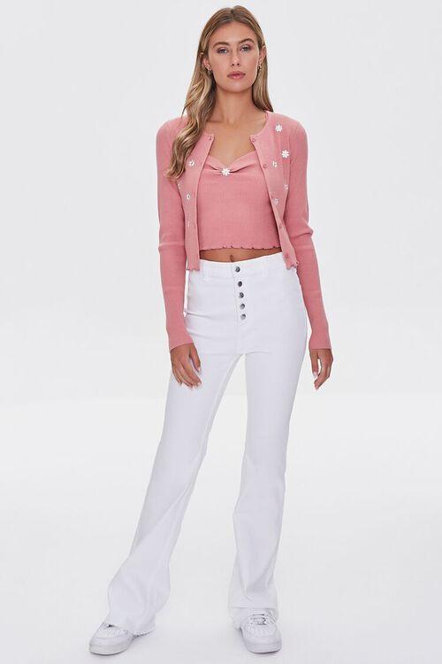 Daisy Print Cardigan Sweater, image 4