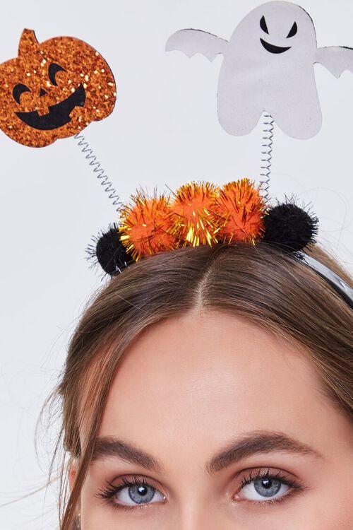 ORANGE Halloween Pom Pom Headband, image 2
