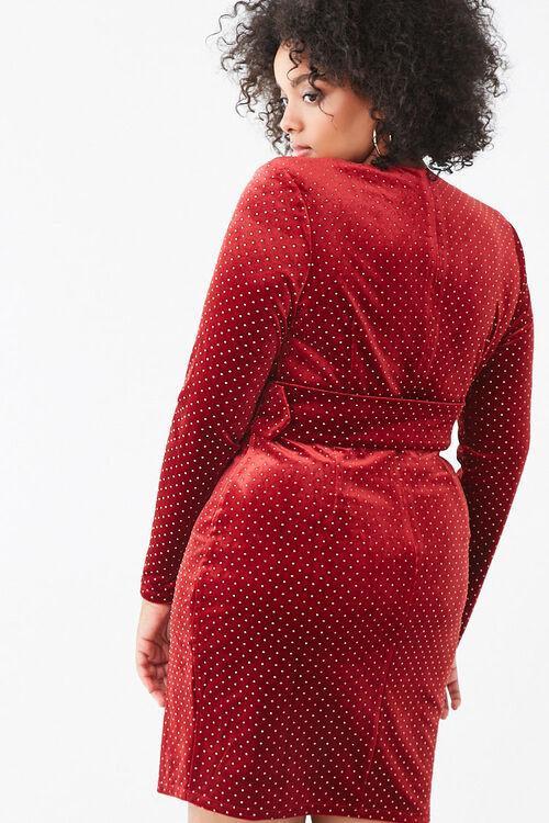 Plus Size Studded Velvet Dress, image 3