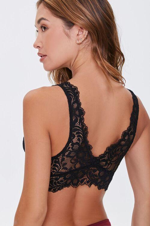 BLACK Floral Lace Bralette, image 3