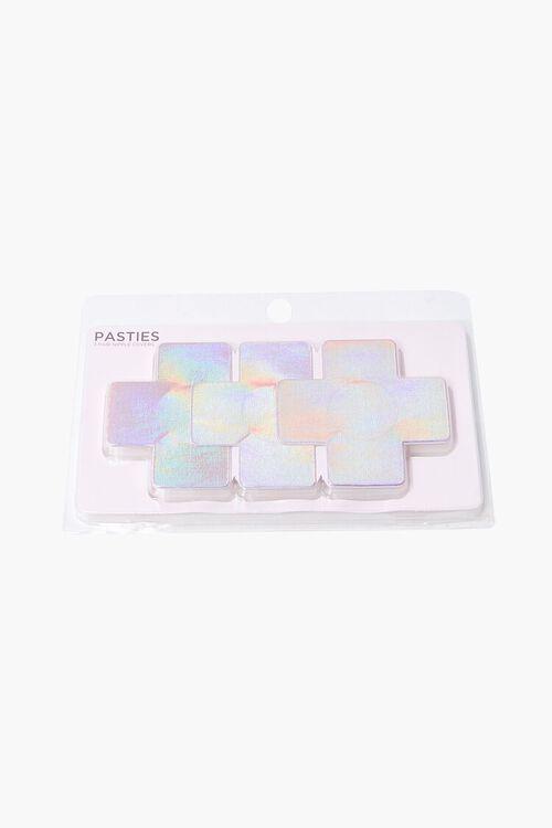 PINK/MULTI Iridescent Cross Nipple Cover Set, image 1