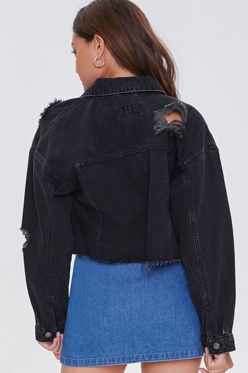 BLACK Basic Recycled Cotton-Blend Denim Jacket, image 3