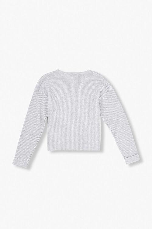 Girls Ribbed Cuffed Sweater (Kids), image 2