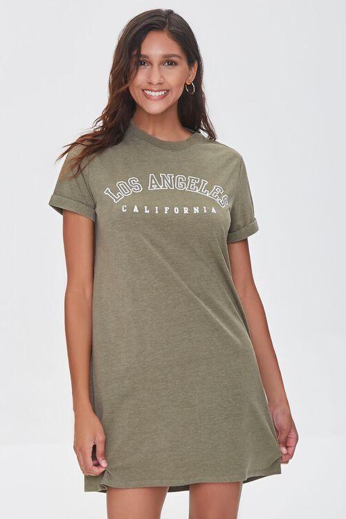 Los Angeles Graphic T-Shirt Dress, image 1