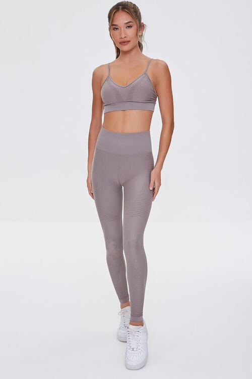 TAUPE Active Seamless Leggings, image 1