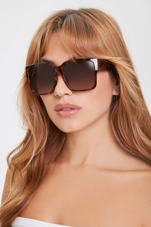 Ombre-Tinted Square Sunglasses, image 1