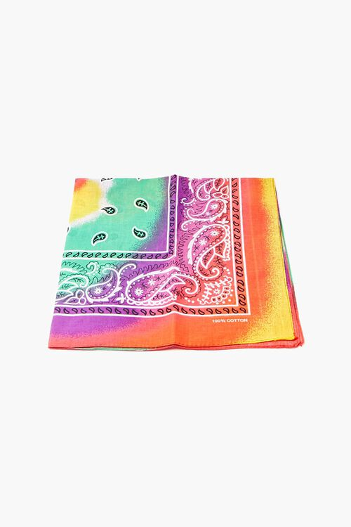 Tie-Dye Paisley Bandana, image 1