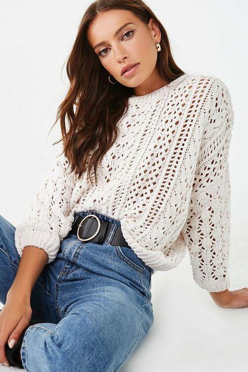 CREAM Open-Knit Chenille Sweater, image 1