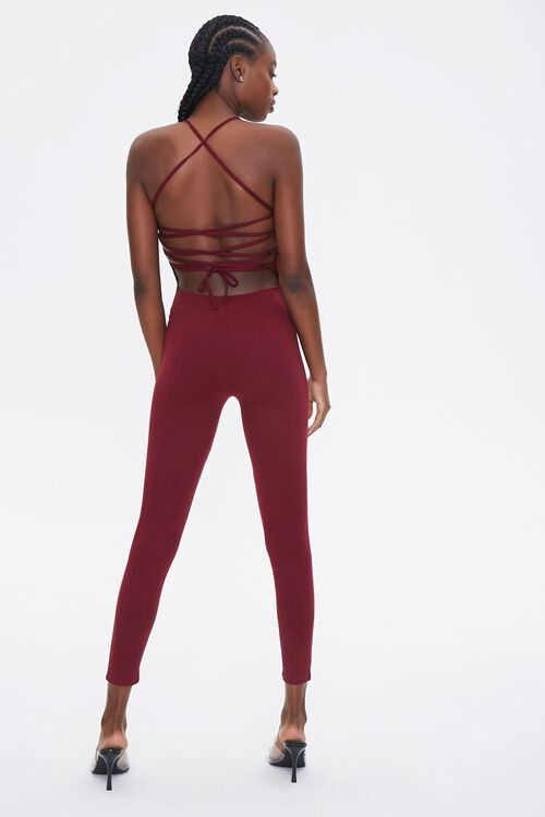 Lace-Back Fitted Jumpsuit, image 3