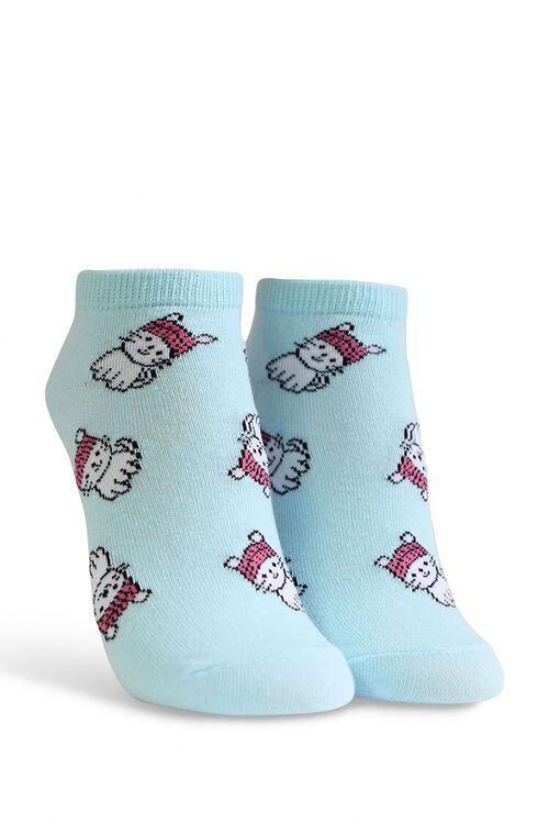 Cat Print Ankle Socks, image 1