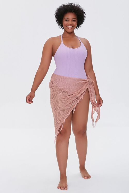 Plus Size Crochet Sarong Swim Cover-Up, image 5